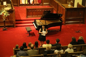Pre-concert announcements from co-artistic director, Jennifer West.