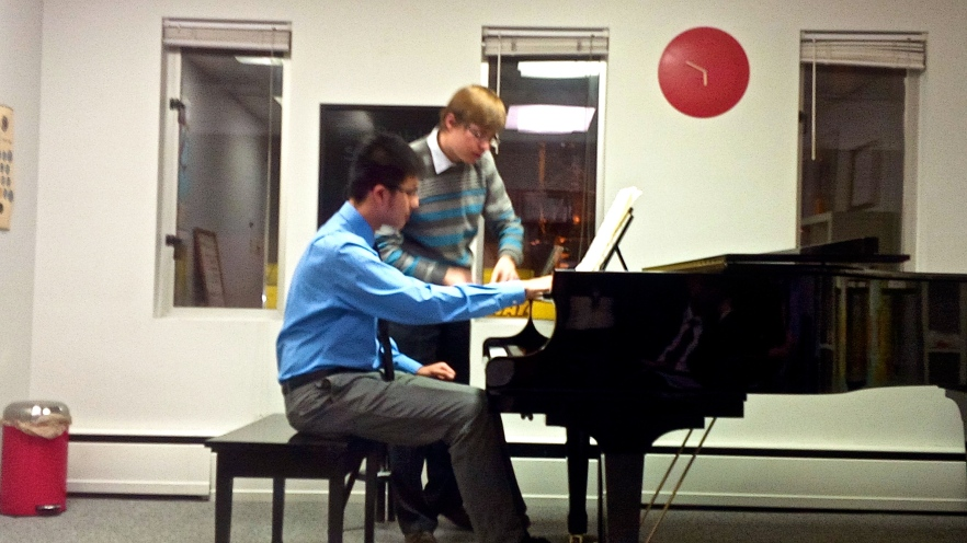 Dr. Saratovsky works with a young student on Beethoven, op.110.