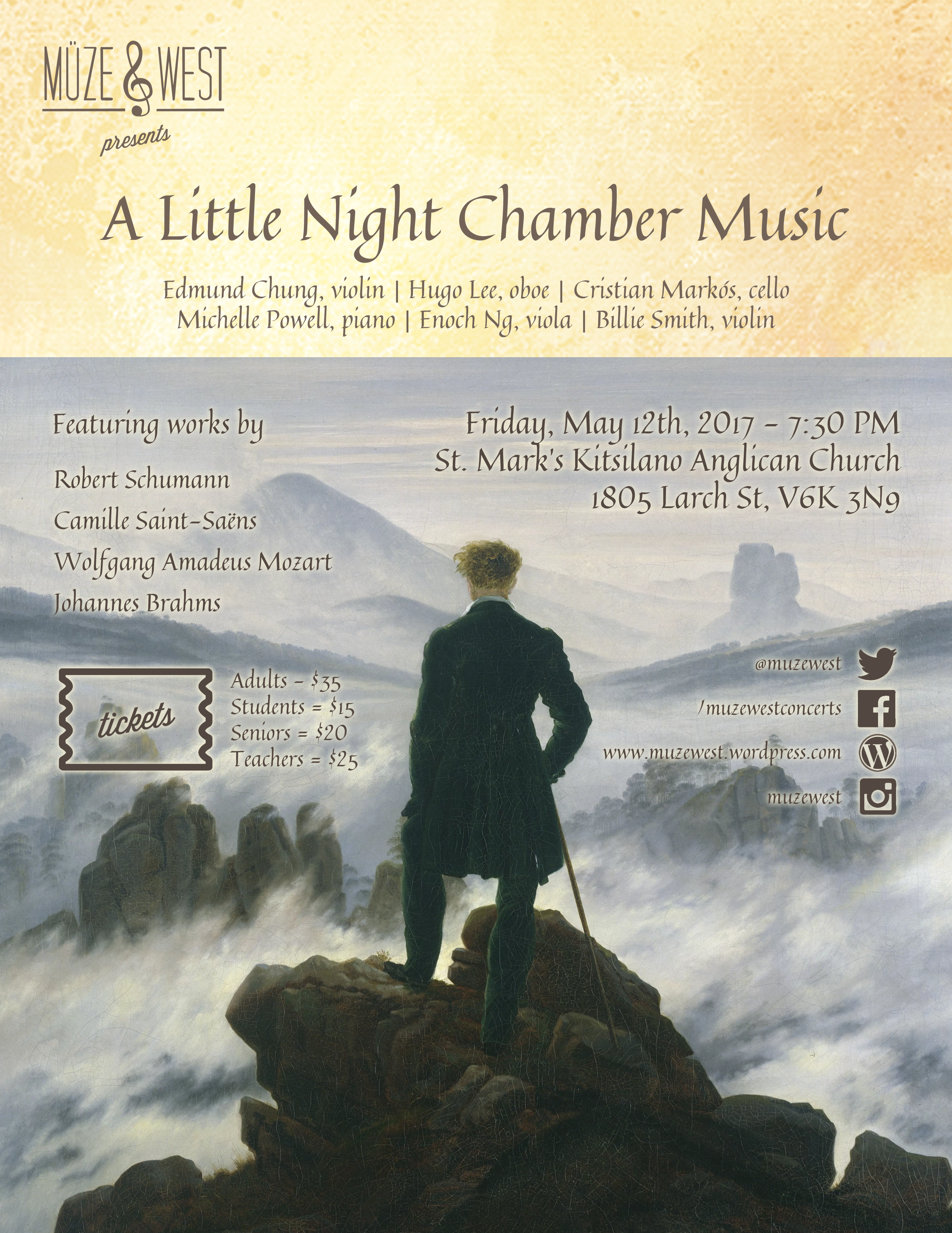 A Little Night Chamber Music – Fri. May 12 (Kits)