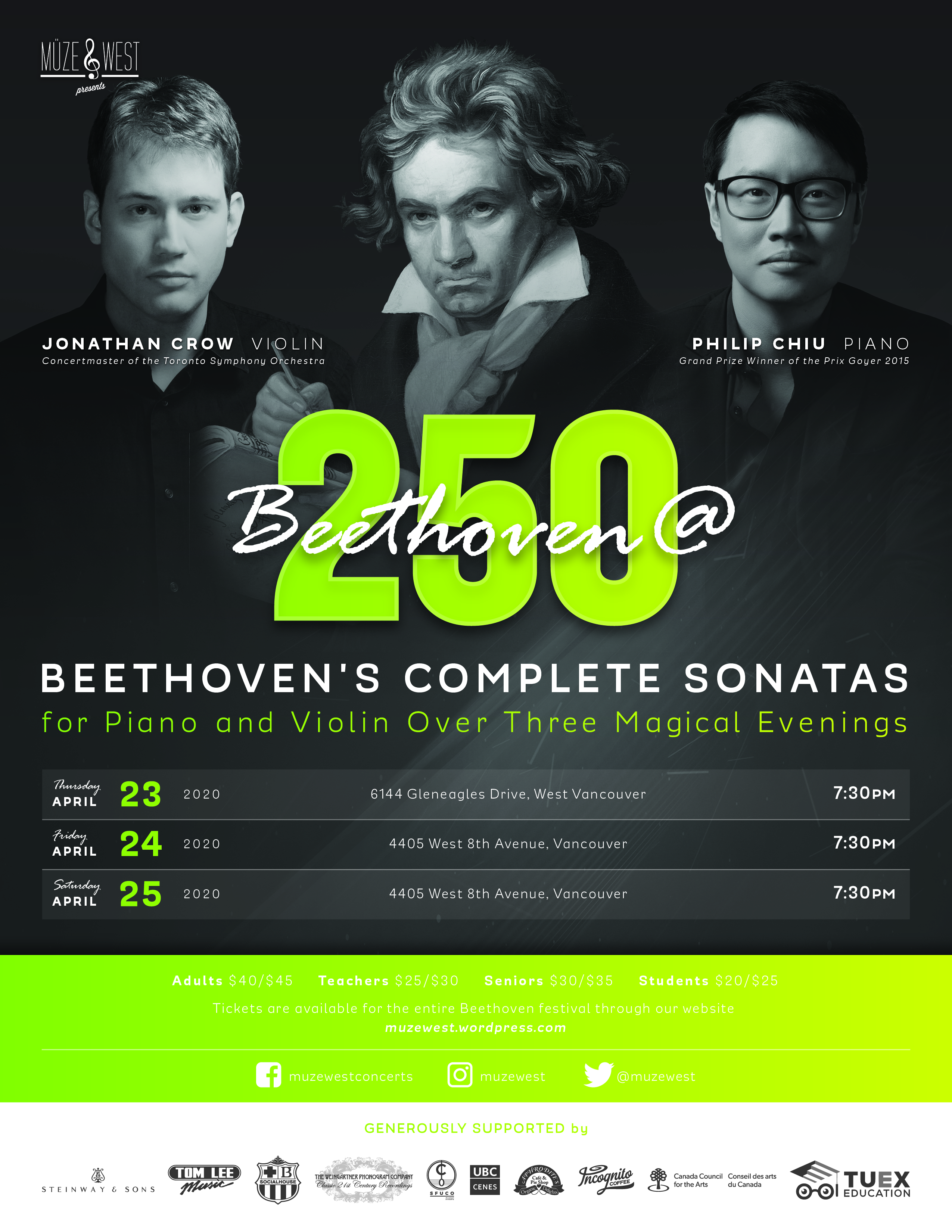 Beethoven@250 – Night One – (date to be determined)