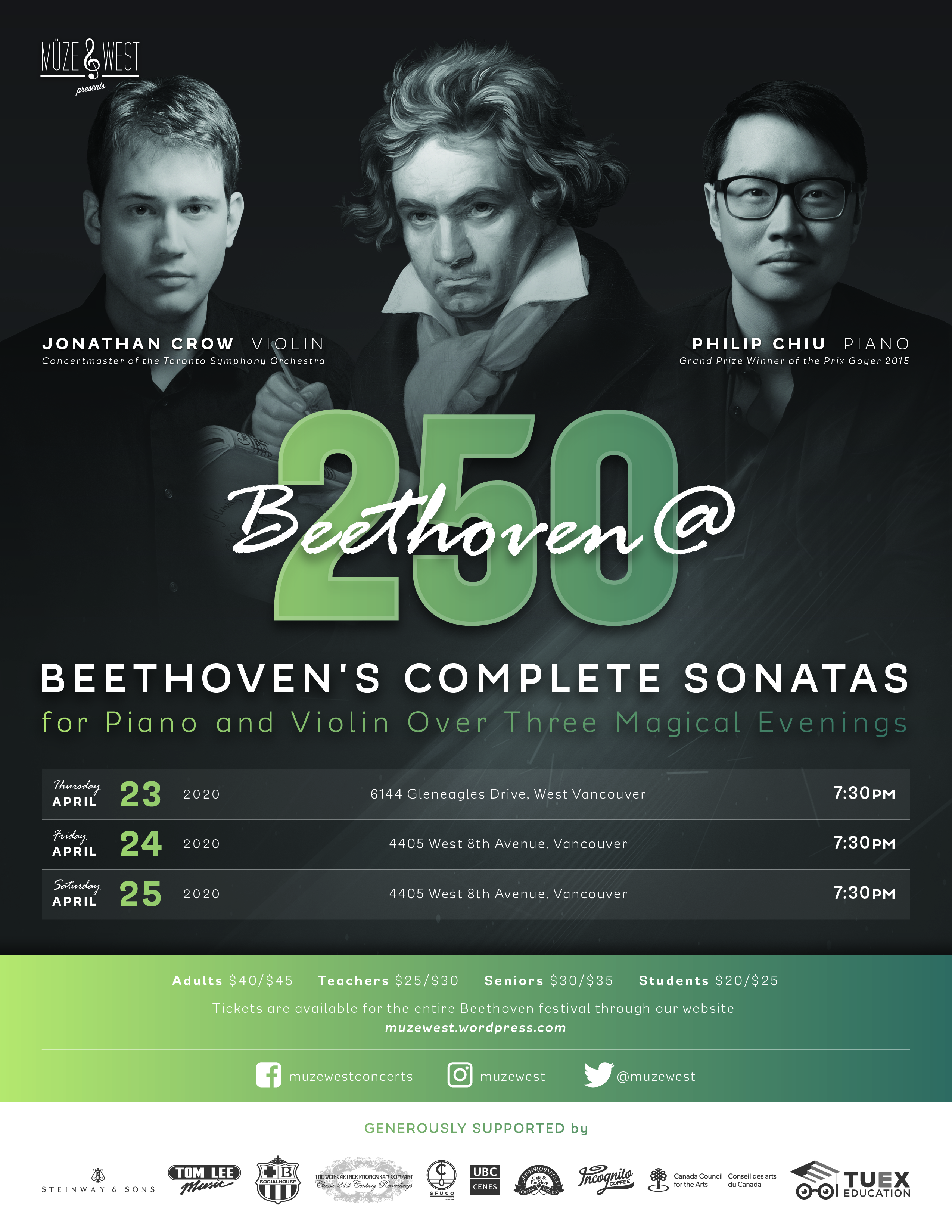 Beethoven @ 250 Festival Part 2 (date to be determined)
