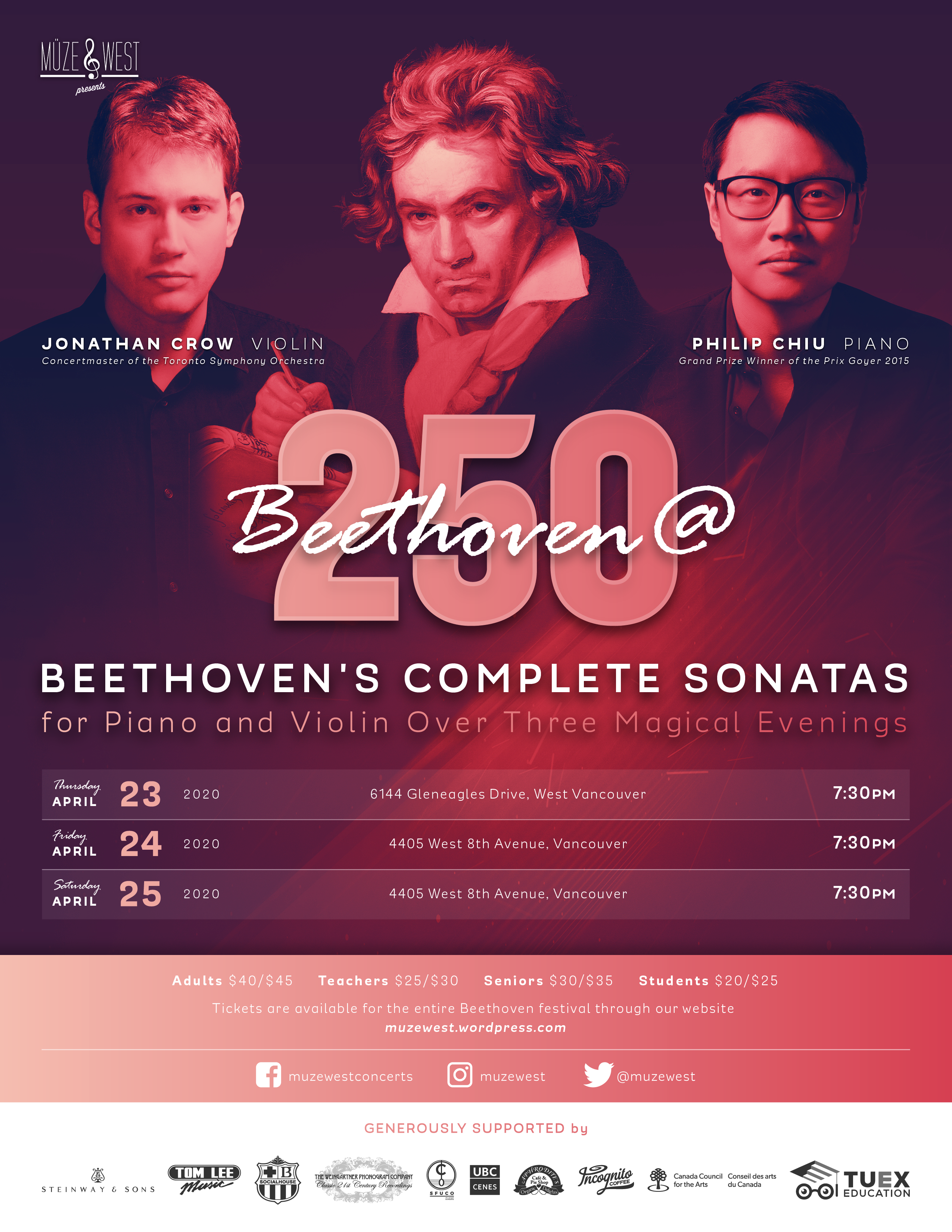 Beethoven @ 250 Festival – Night 3 (date to be determined)