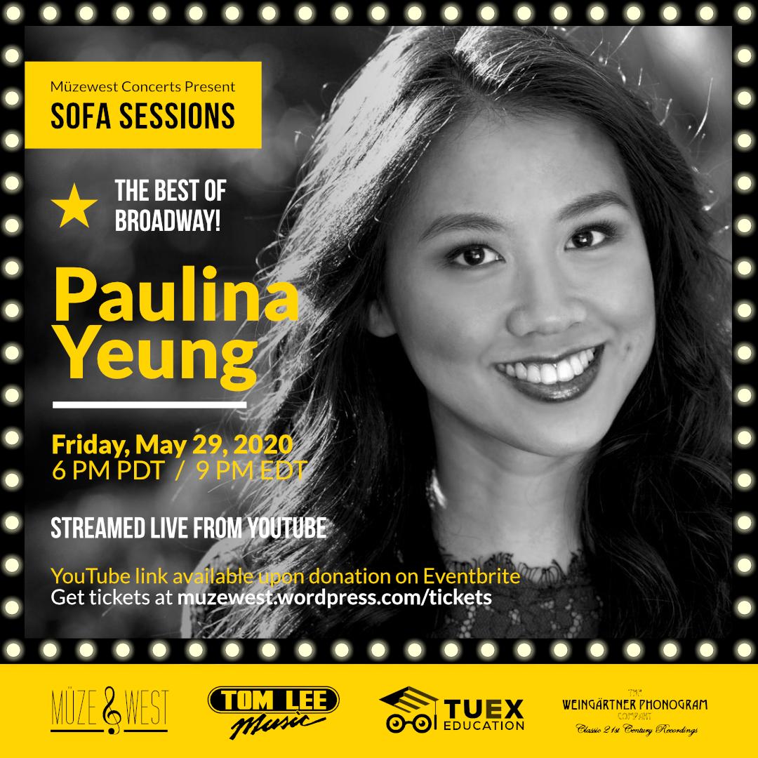 Paulina Yeung, Best of Broadway (Fri. May 29 – 6 PM)