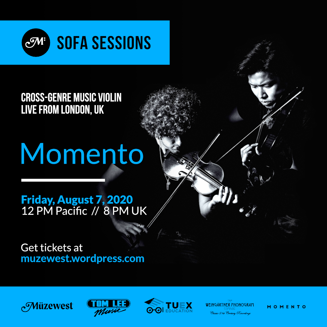 Momento – Live from London, Fri. Aug. 7 @ 12 Noon (Pacific)